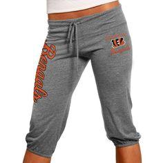 Cincinnati Bengals Ladies Touchdown Tri-Blend Crop Pants - Steel