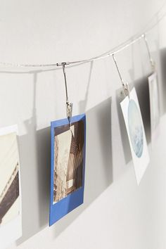 Slide View: 3: Metal Photo Clips String Set