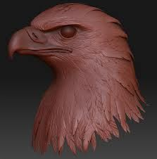 Tutorial: Bird of Prey - ZBrush Info Wood Carving Patterns, Wood Carving Art, Carving Designs, Eagle Pictures, Dremel Carving, Digital Sculpting, Birds Of Prey, Animal Sculptures, Wood Sculpture
