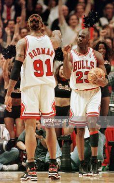 Michael Jordan and Dennis Rodman During Game 7 of the NBA Finals in 1998 Ar Jordan, Jordan Bulls, Michael Jordan Basketball, Jordan Logo, Indiana Pacers, Basketball Legends, Sports Basketball, Basketball Players, Basketball Motivation
