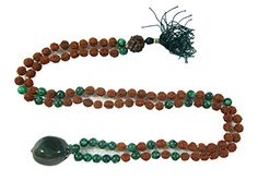 Rudraksha Green Jade Prayer Mala Spiritual Yoga Healing Japamala ~ 108+1 Mogul Interior http://www.amazon.com/dp/B00P26BZ9M/ref=cm_sw_r_pi_dp_Xuavub1C1DS6A