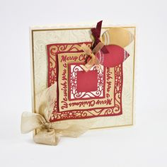 Tonic Studios - Cutting Die - We Wish You A Merry Christmas Indulgence Sentiment Die Set (set of 7 dies)