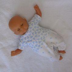 Habits poupon 30 cm : pyjama nounours et pois bleus : Jeux, jouets par mcl-poupees
