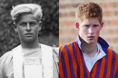 10 Times Prince Harry Looked a Lot Like Prince Philip Prince Philip dressed for Gordonstoun School's production of MacBeth, in Scotland, in Prince Harry playing at the traditional Eton Wall Game while in school at Eton College, in November, Harry Styles Funny, Harry Styles Baby, Young Prince Philip, Prince William, Princess Elizabeth, Queen Elizabeth Ii, Prinz Phillip, Princess Diana Family, Look Alike