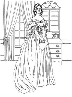 Woman in chiffon and velvet dress