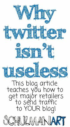 Why twitter isn't useless. :: discover ideas like this on http://schulmanart.blogspot.com/2014/03/why-twitter-isnt-useless.html