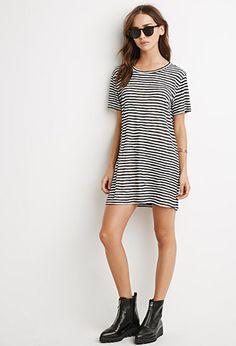 Striped T-Shirt Dress   Forever 21 - 2000172653
