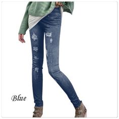 Sexy Stretch Skinny Leggings Printing Jeans Material: Mixed fiber spinning Style: Sexy Stretch Tights Legging Fashion, Sexy, comfortable lady tights. Price is firm unless bundle. Pants Leggings