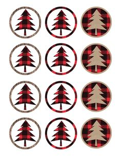 Lumberjack cupcake toppers free printable for your lumberjack themed birthday…