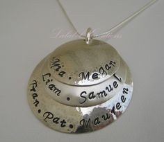 Personalized Necklace Hand Stamped Jewelry by LalabelCreations