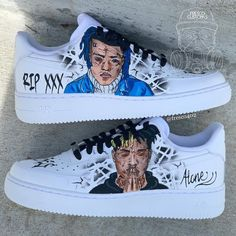 Comment your favorite song by X Custom Painted Shoes, Custom Shoes, Jordan Shoes Girls, Girls Shoes, Souliers Nike, Sneakers Fashion, Shoes Sneakers, Nike Shoes Air Force, Make Up Videos