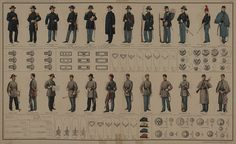 American Civil War Uniforms- styles used were traditional similar to those used in the Napoleonic wars.