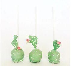 Cacti Cake Pops