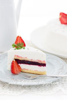 dailydelicious: Berry, Vanilla Mascarpone entremets: with Video instruction