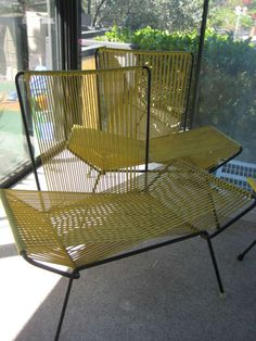 Found on EstateSales.NET: Italian Rope Chairs1950s Possible designers, Carlo De Carlini and Ico Parisi , Franco Albini or Marco Zanuso