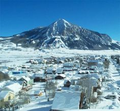 Why do we love Crested Butte, Colorado? Because it looks like this in the winter. A perfect, small, mountain, ski town!