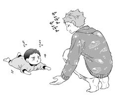 Kageyama X Hinata, Haikyuu Fanart, Haikyuu Anime, Haikyuu Characters, Anime Characters, Kagehina Cute, Osomatsu San Doujinshi, Little Brothers, Sasunaru