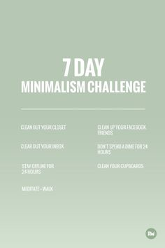 7 day minimalism challenge, Rogue Wood Blog