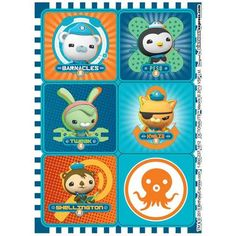 Take home some of your favorite characters on one of these The Octonauts Sticker Sheets! The package includes 4 sticker sheets that each feature 6 different stickers.Includes (4) Sticker Sheets with 6