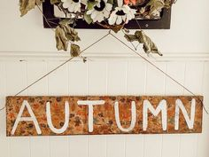 I love to make seasonal signs and switch them out. Sometimes I free hand the lettering and sometimes I stencil. This time I added and extra step that gives my sign some added interest. Halloween Trees, Halloween Season, Easy Halloween, Pumpkin Centerpieces, Diy Centerpieces, Simple Furniture, Furniture Ideas, Hydrangea Not Blooming, Dollar Store Halloween