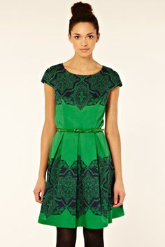 Oasis Lace Tile Print Dress i love green and it would fit me so well i wonder if i can find it or a copy of it somewhere