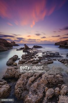 02-28 Long exposure photograph of the sun setting from the rocky... #peyia: 02-28 Long exposure photograph of the sun setting from… #peyia