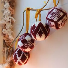 Set of 4 balls Geo Handmade gift Ornament souvenir от Zemlianika