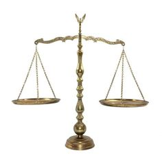 Large 22 Vintage Brass Scales of Justice with by PrimaTreasures: