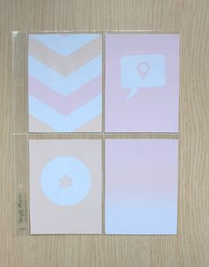 Clear Colours: Free Journaling Cards