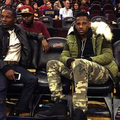 Fabolous Wears Balmain Courtside at the Cleveland Cavaliers Game | UpscaleHype