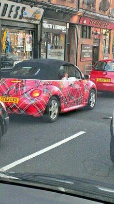 Tartan Beetle - I have to have this!  It is my next car!!!!!!!