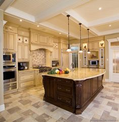 Luxury Kitchen Design. Love the floors