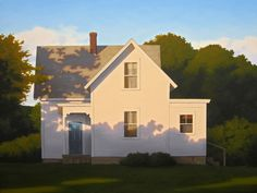 Farmhouse Shadows by Jim Holland. The painting speaks to the many nuances of architecture Landscape Art, Landscape Paintings, House Paintings, Painting Inspiration, Art Inspo, Bg Design, House Painter, Illustration Art, Illustrations