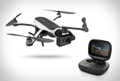 GoPro has finally unveiled their long-awaited drone! The GoPro Karma Drone is of course compatible with the brand´s own popular action cameras, and is small enough to fit easily in to a small backpack (included). The sleek quadcopter features a Drones, Drone Quadcopter, Buy Drone, Drone For Sale, Drone Diy, Gopro Karma Drone, Drone With Hd Camera, Camera Gear, Pilot