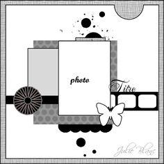1 photo sketch love the large pocket idea. Album Scrapbook, Scrapbook Layout Sketches, Scrapbook Templates, Baby Scrapbook, Card Sketches, Scrapbook Paper Crafts, Scrapbooking 1 Photo, Photo Sketch, Paper Cards