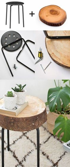 10 Ikea hacks that are great and simple - DIY wooden stools, . - Ikea DIY - The best IKEA hacks all in one place Diy Ikea Hacks, Ikea Hack Storage, Diy Furniture Hacks, Ikea Furniture, Diy Storage, Furniture Storage, Furniture Cleaning, Storage Ideas, Ikea Table Hack