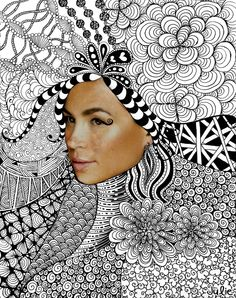 Zentangle with face