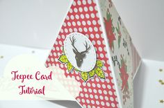 Teepee card tutorial o tutorial de tarjeta pirámide