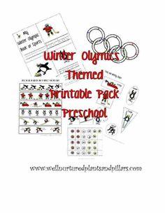 Preschool Olympic Themed Printable Pack...Free!!