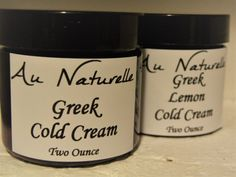 Organic Greek Cold Cream  Two Ounces      Normal To by aunaturelle