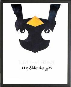 Catita Illustrations Poster - Upside Down - ZiZo Living - woonaccessoires, stationary en nog veel meer -
