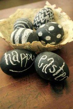 Chalk board eggs!