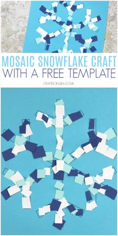 Mosaic Snowflake Craft For Kids Kidscrafts Wintercrafts # mosaic snowflake craft für kinder kids crafts winter crafts # # mosaic Heart - mosaic Pots - mosaic Tattoo Winter Art Projects, Easy Christmas Crafts, Winter Kids, Christmas Crafts For Kids, Projects For Kids, Diy For Kids, Art Ideas For Teens, Easy Crafts, Winter Crafts For Preschoolers
