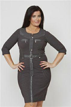 Plus Size Dress / Curvy Fashion heavyweight super-soft stretch jersey fabric