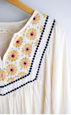Ivory Peasant Blouse | Love is in the details