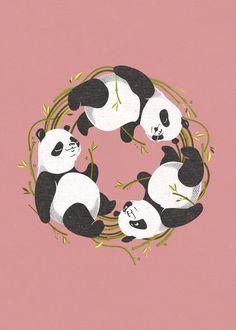 Panda dreams Art Print by Ukko | Society6