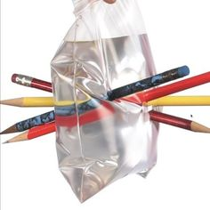 The Leak-Proof Bag - Science Trick.  This experiment demonstrates how polymers work!