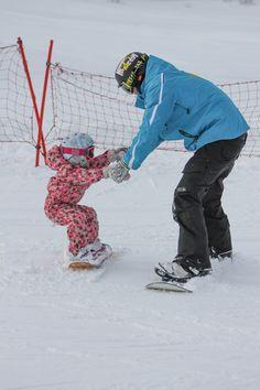 A snowboarding private lesson