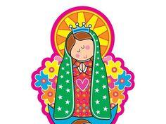 Imagenes en caricatura de la virgen Guadalupe - Imagui