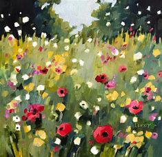 """Daily Paintworks - """"Start From Scratch"""" - Original Fine Art for Sale - © Libby Anderson"""